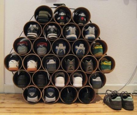 Inspiraci n ideas para ordenar y ahorrar espacio kit diy - Ideas para guardar zapatos en espacios pequenos ...